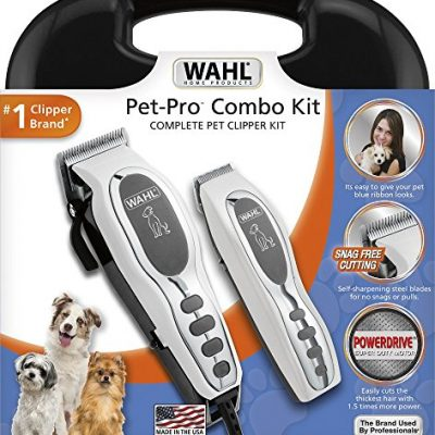 Wahl Pet-Pro Dog / Cat Combo Kit, Full size,  Powerful Clipper and Small Detail Trimmer (battery operated) #9284